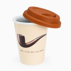 Ceramic cup with silicone lid - Magritte's 'pipe'