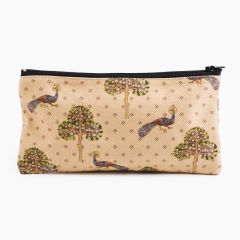 Pencil case with Peacock and Tree of Life pattern