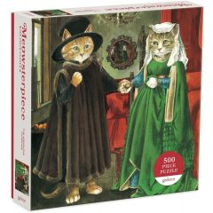 The Arnolfini Marriage Meowsterpiece of Western Art 500 Piece Puzzle