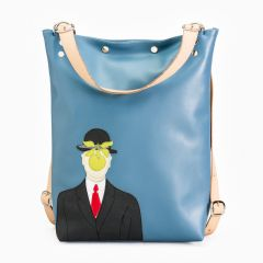 Magritte leather handbag/backpack