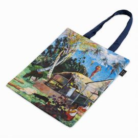 Canvas tote with Gaugin's The Black Pigs